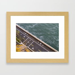 Bike Path Framed Art Print