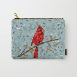 Red Cardinal Collage Carry-All Pouch