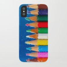 Pencils iPhone X Slim Case