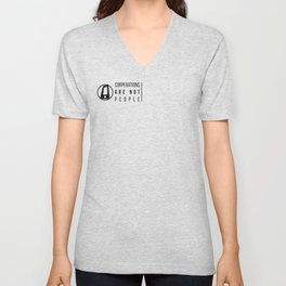 CORPORATIONS ARE NOT PEOPLE Unisex V-Neck