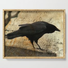 Crow Caws Serving Tray