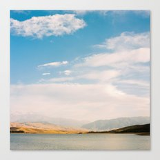 Mountain and lake view Canvas Print