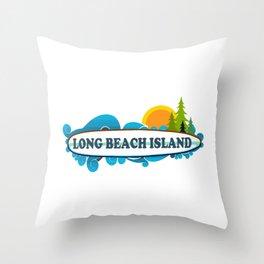 Long Beach Island - New Jersey. Throw Pillow