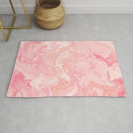 Blush pink abstract watercolor marble pattern Rug