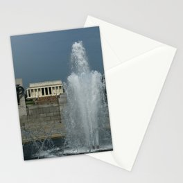 Memorial Fountain  And Lincoln Memorial Stationery Cards
