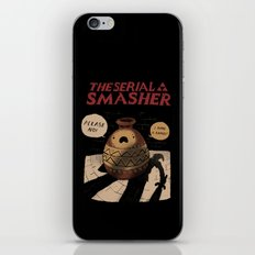 the serial smasher iPhone & iPod Skin