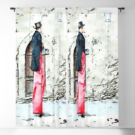 Barbarano Romano: acrobat with stilts and red pants Blackout Curtain