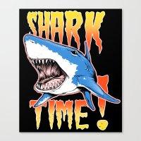 shark Canvas Prints featuring Shark by Silver Larrosa