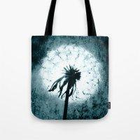dandelion Tote Bags featuring dandelion by Falko Follert Art-FF77
