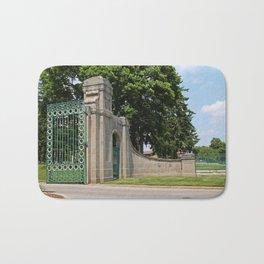 Calvary Cemetery Gate III Bath Mat