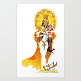 La Virgen de la Caridad del Cobre Art Print