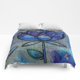 Abstract - Lotus flower - Intuitive Comforters