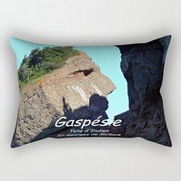Rocher Tete d'Indien - Indian Head Rock Rectangular Pillow