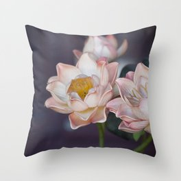Lovely Water Lily II Throw Pillow