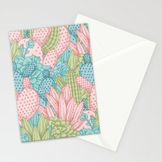 Pastel Cacti Obsession #society6 Stationery Cards