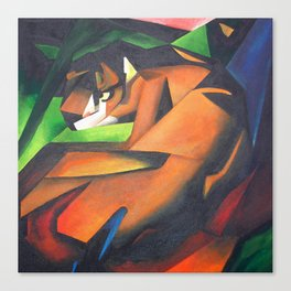 Tiger After Franz Marc Canvas Print