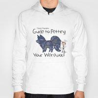 stiles stilinski Hoodies featuring Stiles Stilinski's Guide to Petting Your Werewolf by Yiji