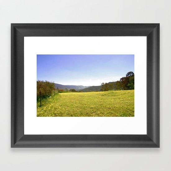 Wild Daises Framed Art Print