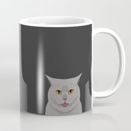 Kai - British shorthair cat gifts for cat lovers and cat lady gifts.  Cat people gifts Coffee Mug