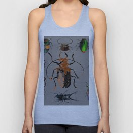 NATURE LOVERS BEETLE BUG COLLECTION ART Unisex Tank Top