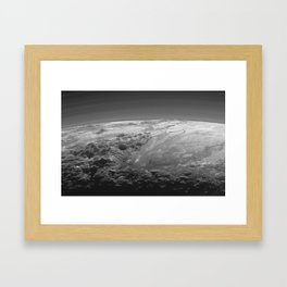 Icy Mountains of Pluto Framed Art Print