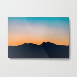 The Mountain After Sunset Metal Print