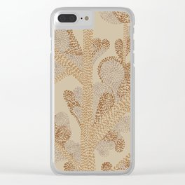earthy swirls Clear iPhone Case