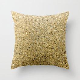Gritty Glittery Gold Sparkle Throw Pillow