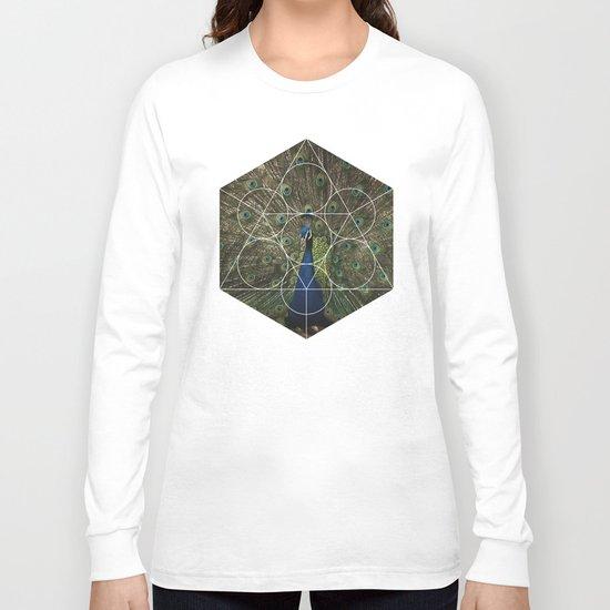 Beautiful Peacock - Geometric Photography Long Sleeve T-shirt