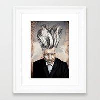 lynch Framed Art Prints featuring David Lynch by Khasis Lieb