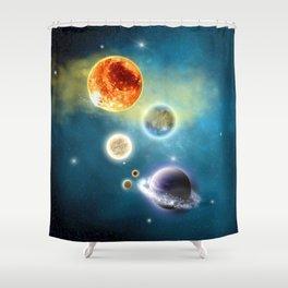 New Solar System Shower Curtain