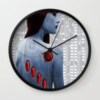 android Wall Clocks featuring Android by Slaughterhouse Art Studio