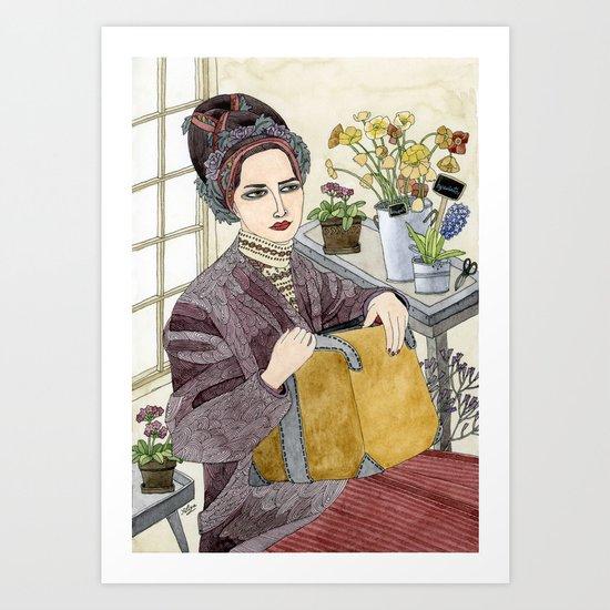 In the Flower Shop Art Print