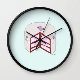 R O S E S  CAKE Wall Clock