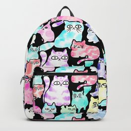 Inky Cats Black Backpack