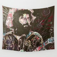 charlie Wall Tapestries featuring Cosmic Charlie by Matt Pecson