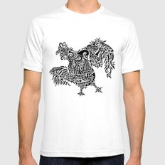fowl SMALL White Mens Fitted Tee
