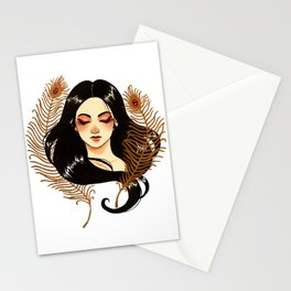 Peacock's feathers Stationery Cards