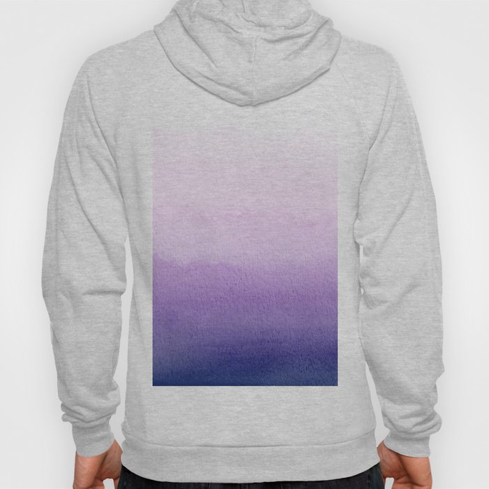 Purple Watercolor Design Hoody