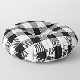 Buffalo Check - black / white Floor Pillow
