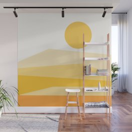 Abstract Landscape 09 Yellow Wall Mural