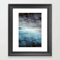 Glacier Painted Clouds  Framed Art Print
