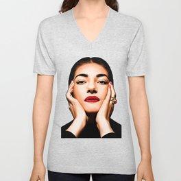 Maria Callas Unisex V-Neck