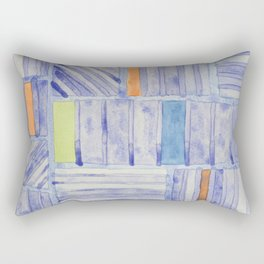 Blue Panel with Colorful Rectangles  Rectangular Pillow