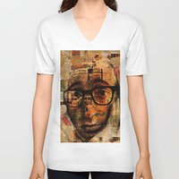 woody V-neck T-shirts featuring Woody A. by Ganech joe