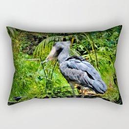 The ShoeBill Stork Rectangular Pillow