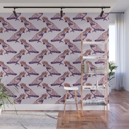 purple cockatiel pattern Wall Mural