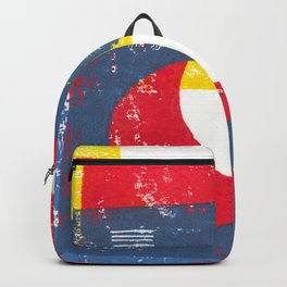 Basic in red, yellow and blue Backpack