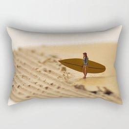 Miniature Surfer Girl Cardboard Rectangular Pillow