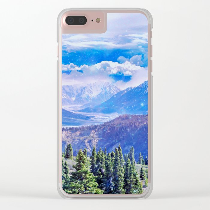 Neverland mountains Clear iPhone Case